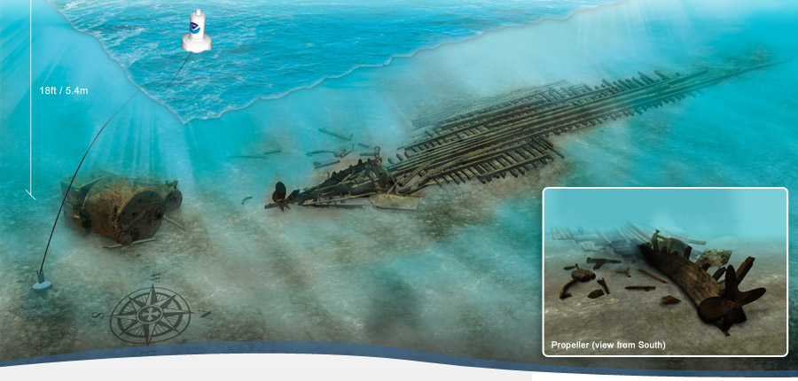 Monohansett Wreck - Thunder Bay - Lake Huron | NOAA